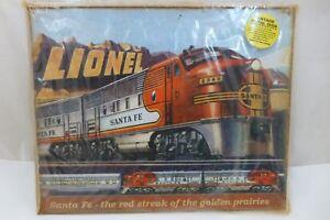 LIONEL-Santa-Fe-Railroad-Locomotive-Ad-15x12-Rustic-Retro-Vintage-Metal-Tin-Sign