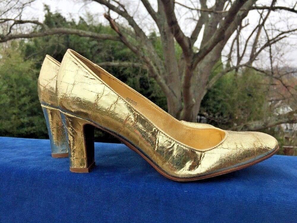 J Crew resistido apariencia oro Lamay Lamay Lamay brillante Bombas Zapatos De Tacones Altos De Cuero Mujer Talla 8  garantía de crédito