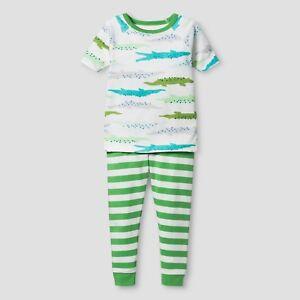 Toddler Boys' Organic Cotton 2-Piece Pajama Set Alligators - Cat & Jack 12M NWT