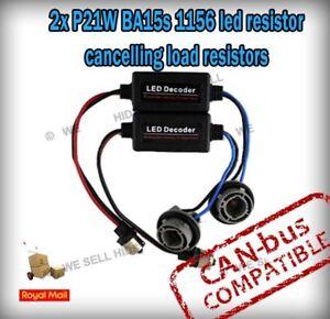2 x P21W BA15s 1156 CANBUS NO ERROR WARNING LED DRL Passat CC Skoda fabia rs4 s3