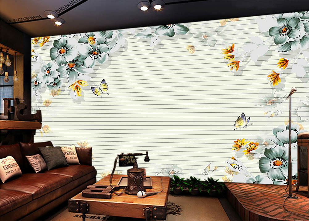 Butterfly Flying 3D Full Wall Mural Photo Wallpaper Printing Home Kids Decor