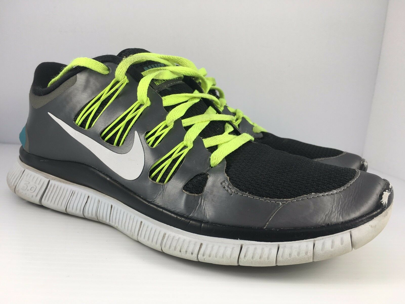NIKE Free 5.0+  Women US 9.5 Black Gray + Neon Volt Running Shoes 580591-004 The most popular shoes for men and women