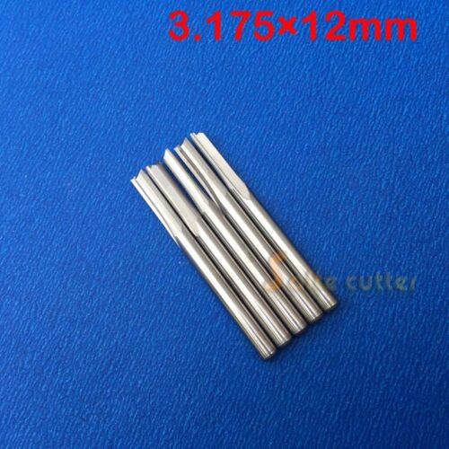 "10pc Double Flute Straight Slot Endmill Tool CNC Router Bits FOAM  PVC 1//8/"" 12mm"