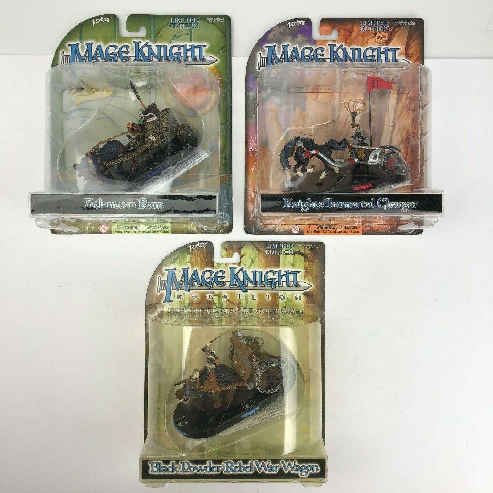 Lot of 3 Mage Knights Atlantean Ram, Knights Immortal Charger, War Wagon - NEW