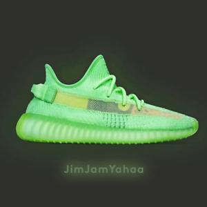 Adidas-Yeezy-Boost-350-V2-Glow-GID-UK-9-5-RARE