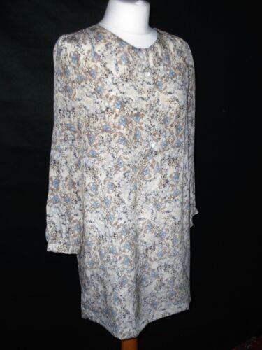 Pure Blue Size Masscob Cream 10 Uk Small Long Silk Tunic And Top 12 dqqxZrTw7X
