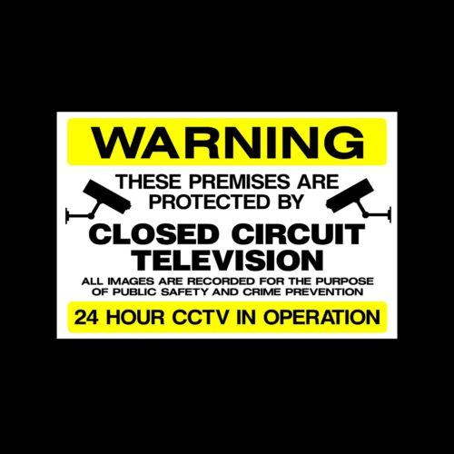 misc48 avertissement caméra CCTV Signe Autocollant-toutes tailles et matériaux-sécurité