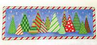 Sp.order Christmas Forest Of Trees Hp Needlepoint Canvas & S.guide A. Talents