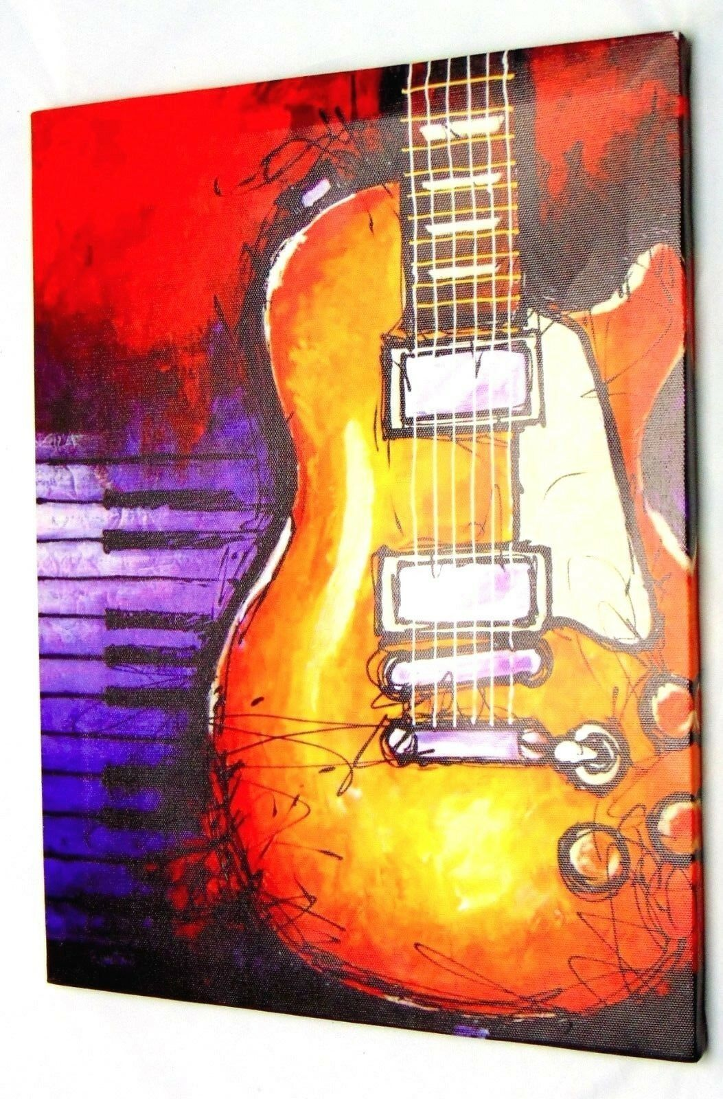 Abstract Guitar Canvas Prints Wall Decor Art Music Painting Picture ...