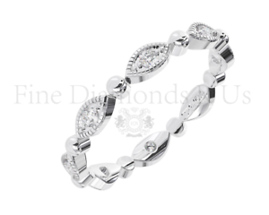 0.20 Carat Round Brilliant Cut Diamonds Full Eternity Ring Available in 18K gold