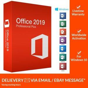Microsoft Office 2019 Pro Plus 32 Bit 64 Bit Product Key Official
