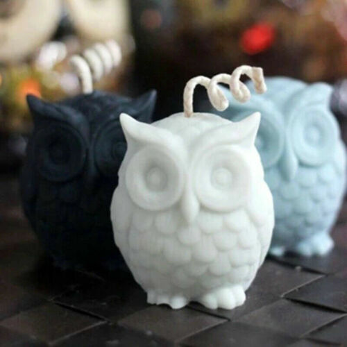 Owl Bird Molds 3D Wax DIY Craft Candle Hobby Silicone Mold Soap Mould