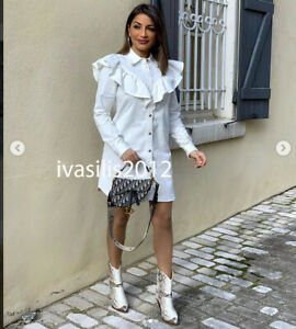 zara white denim dress