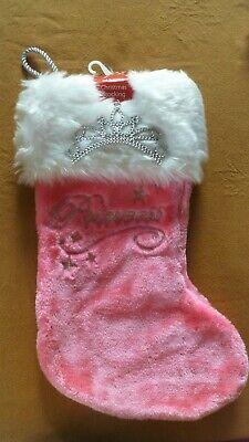 Personalized Christmas Stockings Christmas Stocking Girl Stocking Princess Christmas Stocking Pink Princess Stocking Pink Stocking.