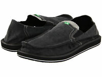 Men Sanuk Pick Pocket Slip On Loafer Smf1032 Charcoal 100% Original Brand