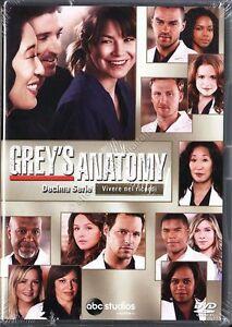 Grey-039-s-Anatomy-Serie-TV-10-Stagione-Cofanetto-Con-6-Dvd-Nuovo-Sigillato