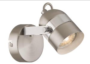 LED Globo Spotbalken Deckenleuchte Lampe Leuchte Spot nickel chrom 57352-1
