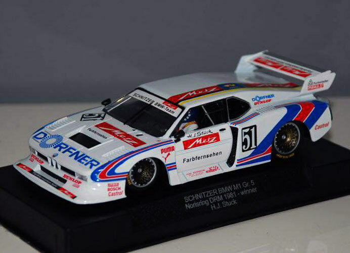 Racer Sideways Schnitzer BMW M1 Gr.5 Nurburgring DRM Group 5 1 32 Slot Car SW25