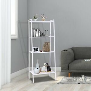 57-034-4-Tier-Durable-Bookcase-Bookshelf-Leaning-Wall-Shelf-Shelving-Ladder