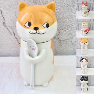 New-Cat-animal-dog-cute-kawaii-shape-ceramic-mugs-cups-coffee-set-tea-gift-white