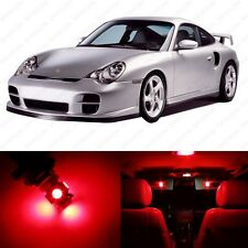 10 x Brilliant Red LED Interior Light Package For 1998 - 2004 Porsche 911 996