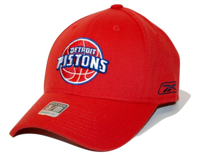 competitive price 6e9a8 3c7d2 ... buy detroit pistons reebok nba basketball team logo stretch fit cap hat  sm md 304f7 a0492