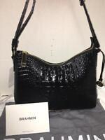 Brahmin Gracie Black Melbourne Leather Shoulder Bag/purse M54 151 400 00001