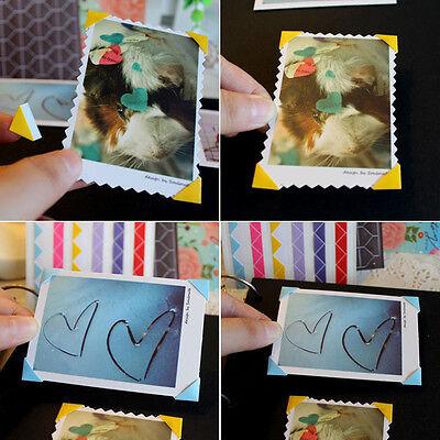 Hot 102Pcs Photo Scrapbook Album Corner Tape Sticker Self-adhesive Handmade DIY