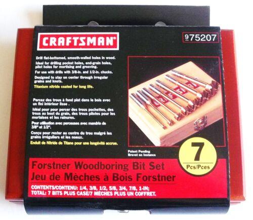 CRAFTSMAN 7pc Titanium Forstner Wood Boring Drill Bit Set 975207 925389 ou