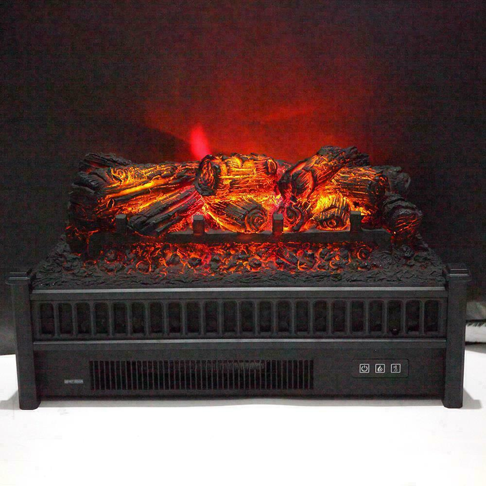 "23"" 1400W Electric Fireplace Logs Heater Realistic Flame Hea"