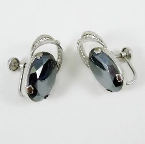 htm silver p sterling hematite earrings