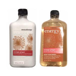 Bath Body Works Aromatherapy Energy Orange Ginger Shampoo Conditioner 16 Oz 667552645051 Ebay