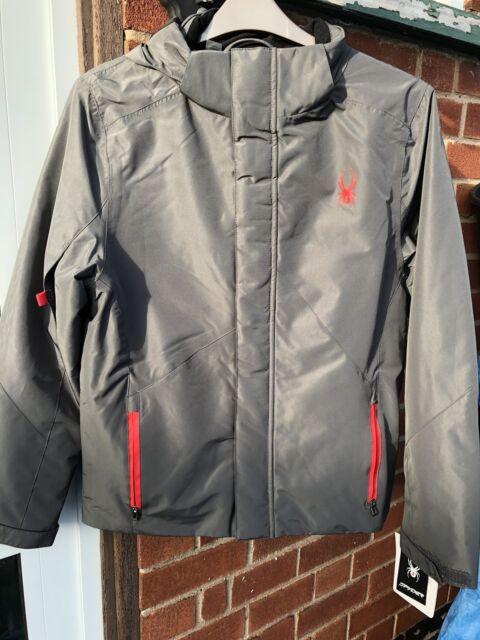 Spyder Mens Ski Jacket Charcoal Grey UK Small Xt.l 10k 5k for sale ... 283f77871