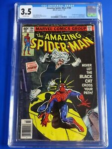 CGC-Comic-graded-3-5-Amazing-Spider-man-Marvel-194-1st-black-cat-Key-issue