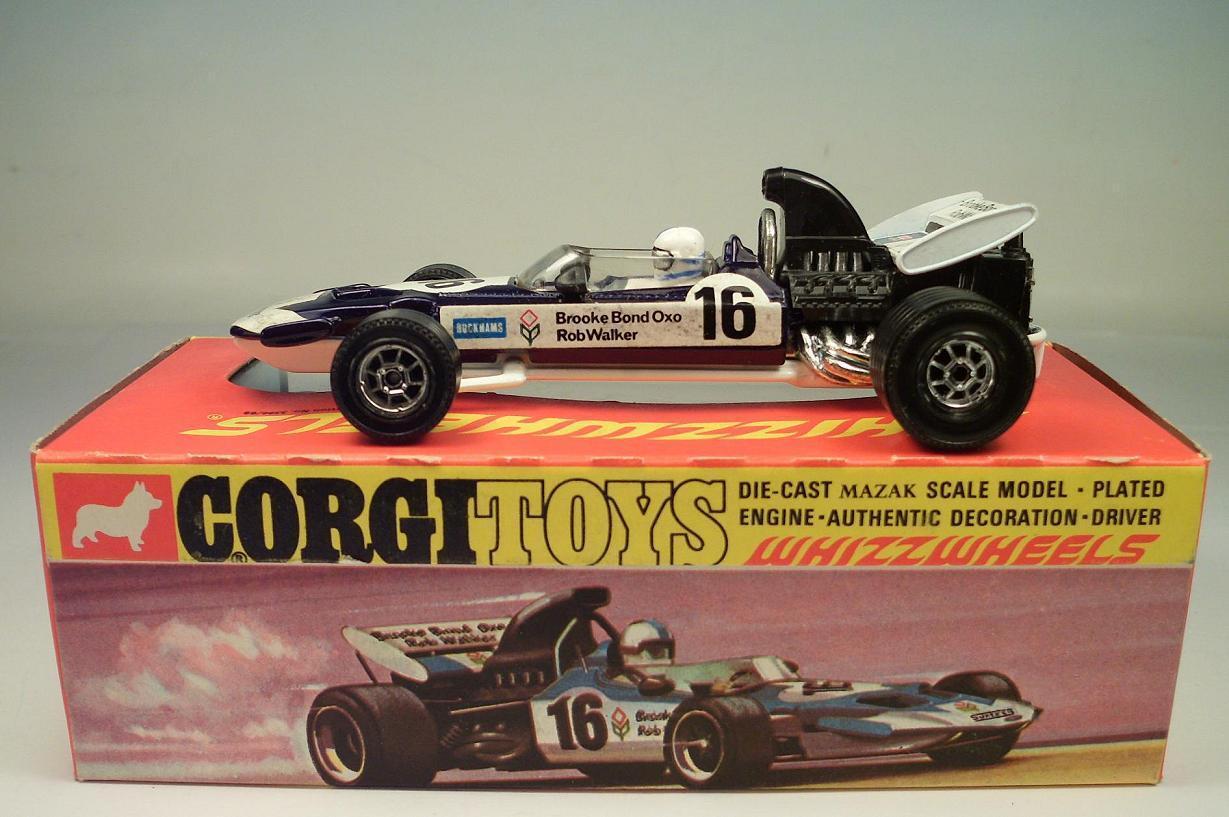 Corgi toys whizzwheels 150 Surtees t.s.9 f 1 Racing Car Brooke Bond oxo OVP