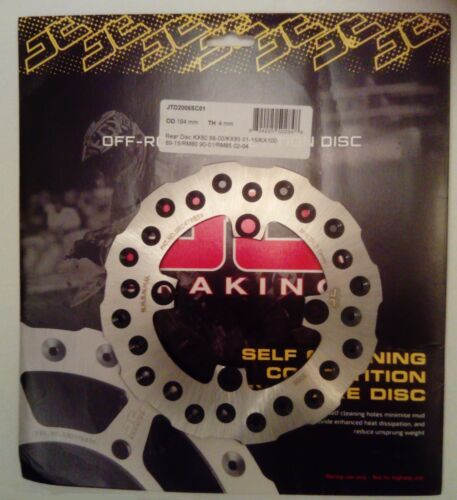 JT Brakes Self Cleaning REAR Wavy Brake Disc 1988 to 2000 Kawasaki KX80