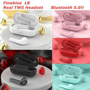FineBlue L8 TWS Bluetooth 5.0 Wireless Earbuds Earphone Headphone Touch Control