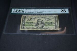 PMG-Graded-Dominion-of-Canada-DC-1c-1870-25-Cents-Banknote-VF30