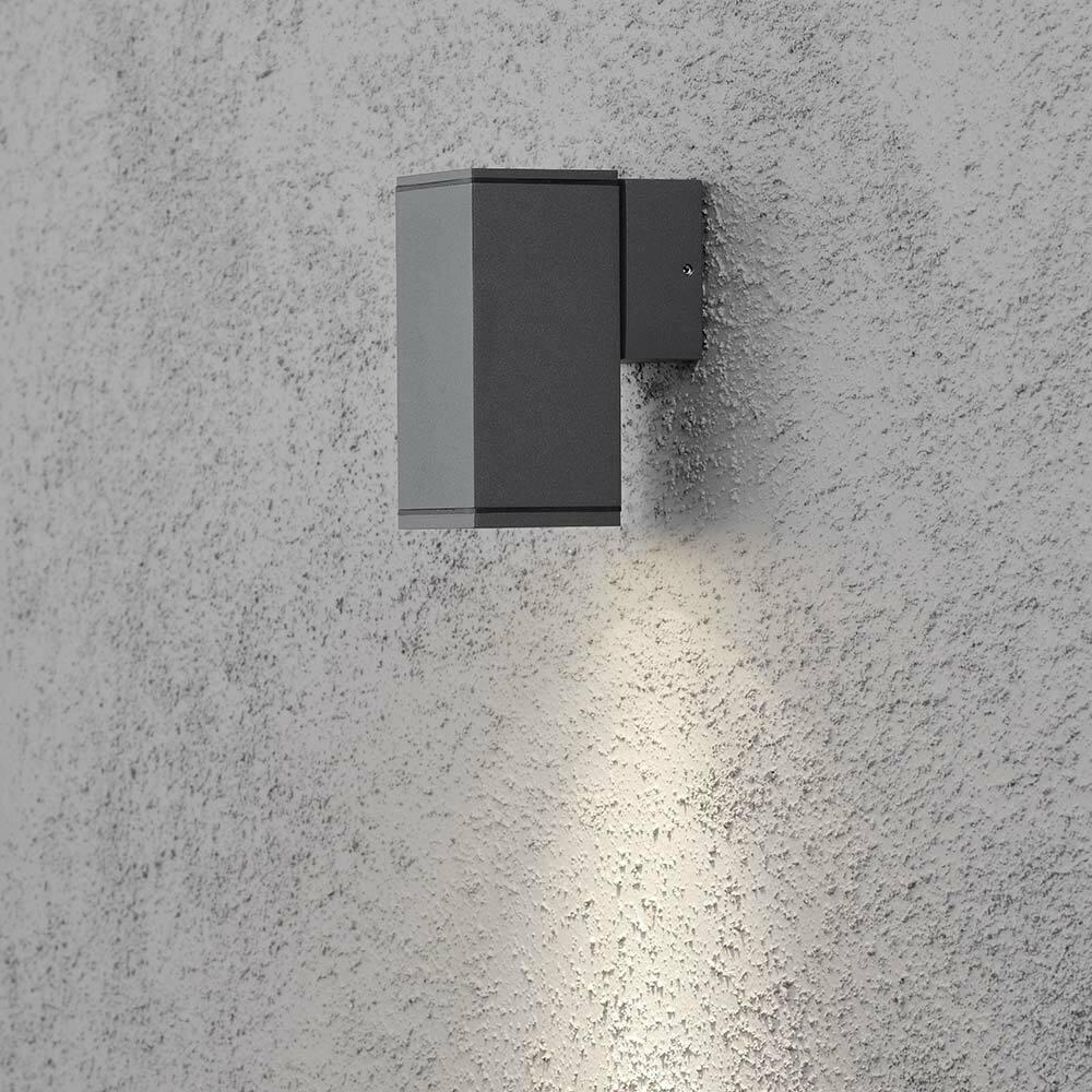 Konstsmide 7908-370 Monza al aire libre luz de Parojo Antracita Reflector De Vidrio Transparente