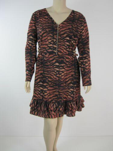 City Chic Ladies Animal Print Tigress Dress sizes 14 XS Colour Tigress Print