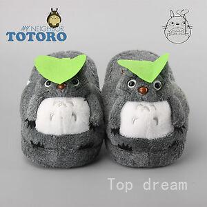 80c88e17f2eb Anime My Neighbor TOTORO Plush Slippers Doll Adult Unisex Shoes 11 ...
