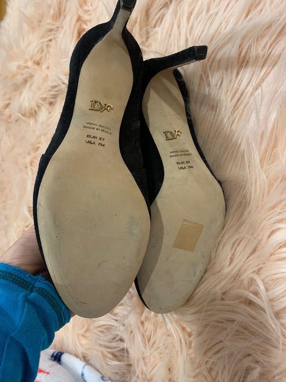 Diane Von Von Von Furstenberg Isilia Cutout Leather Suede Made In  Stiefelie 7  448 b14a1e