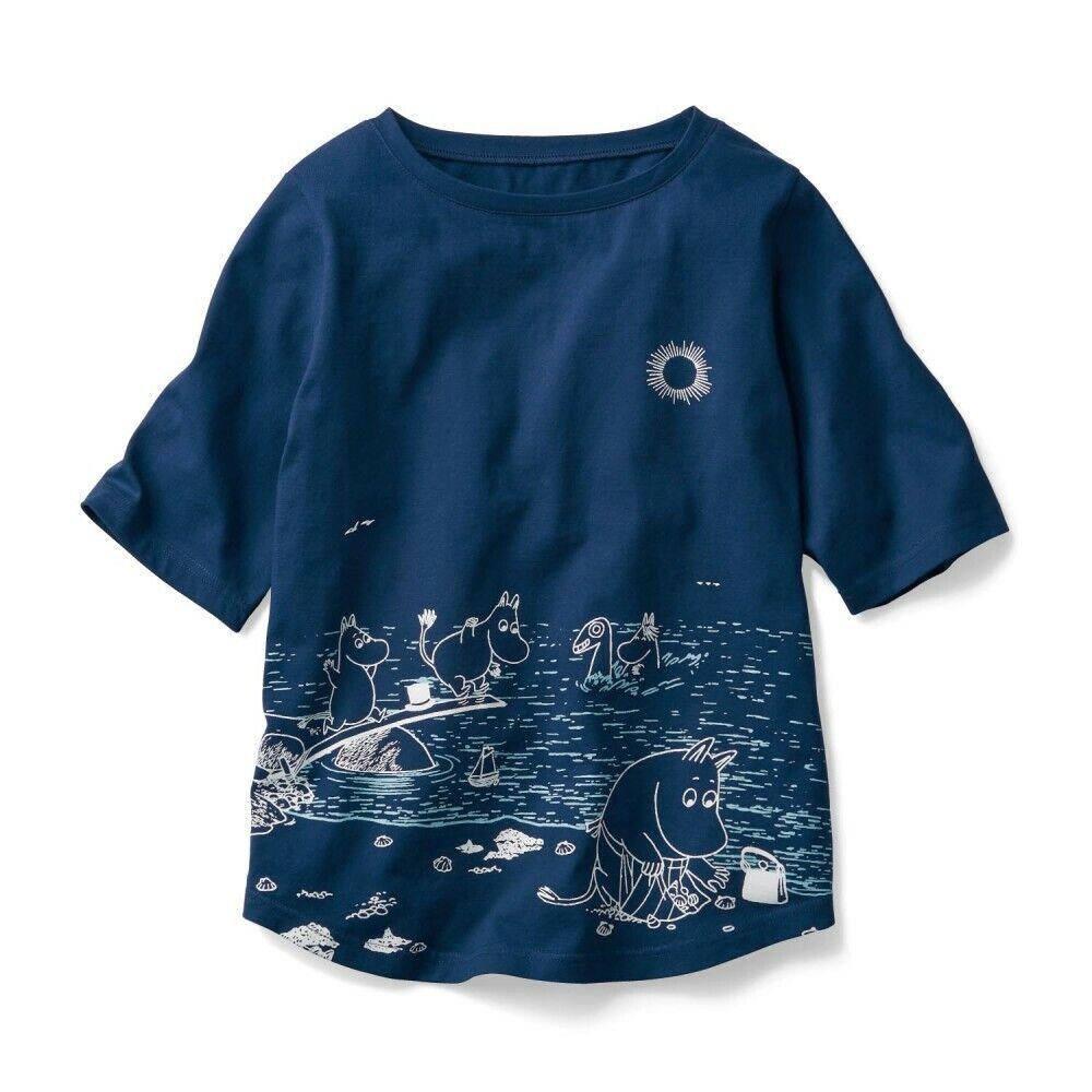 MOOMIN Little My Snufkin damen T-shirt Tee Shirt Cutsaw Tops Wear Japan E6132