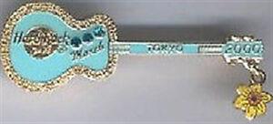 Hard Rock Cafe Tokyo 2000 Calendar Birthstone Guitar Pin March