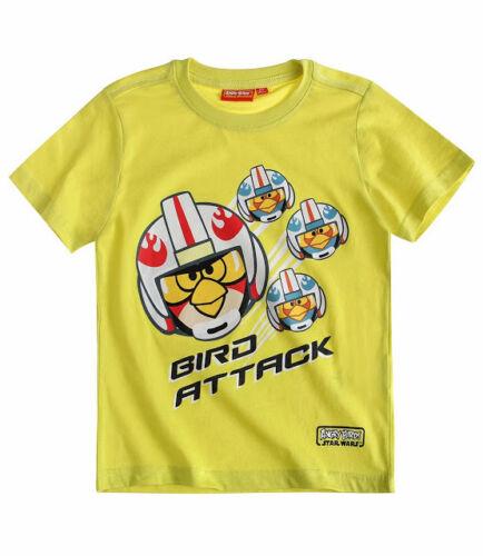 Angry Birds Star Wars T-Shirt weiß grün blau Lizenzware Kurzarmshirt 88116
