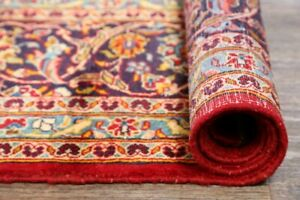 Excellent-Traditional-Floral-RED-GOLD-Area-Rug-Hand-Knotted-Oriental-Carpet-8x12