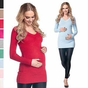 La imagen se está cargando Feliz-Mama-Para-Mujer-maternidad -elastica-de-punto- 3d56cd0ff7a8