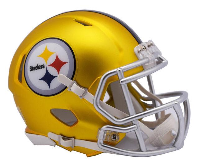 1708f0a6540 Riddell Pittsburgh Steelers Blaze Revolution Speed Mini Football Helmet  Limited