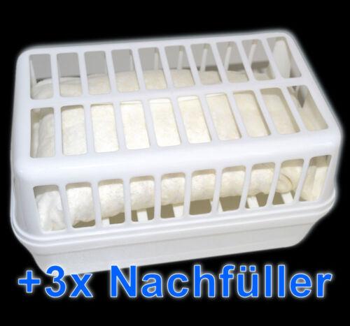 Raumentfeuchter Set 3 x Nachfüllpack à 1,2 kg Luft-Entfeuchter 1 Gerät