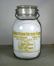 HUGE GALLON! PYRO old MOLALLA, OREGON OR / ROBERTSON JERSEY FARM milk bottle